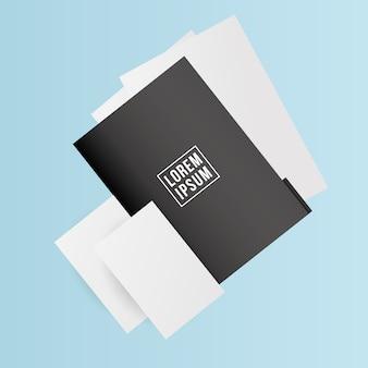 Fichier de maquette avec conception de papiers du modèle d'identité d'entreprise et thème de marque