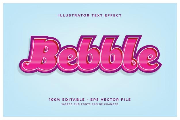 Fichier modifiable de concept d'effet texte candy