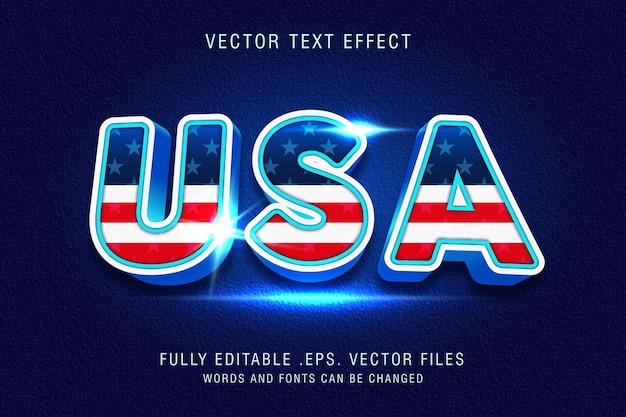 Fichier modifiable d'effet de style de texte américain