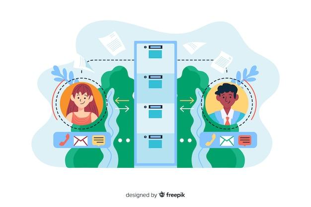 Fichiers de transfert de concept pour la page de destination