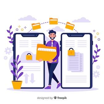 Fichiers de transfert de pages de concept
