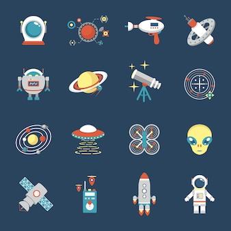 Fiction icon set