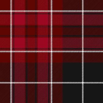 Fierté du pays de galles texture transparente motif tartan rouge et noir