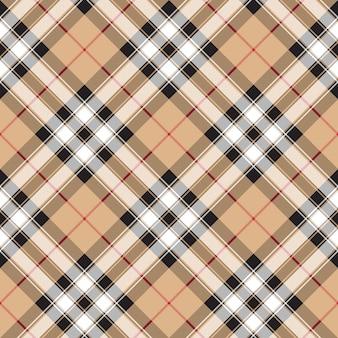 Fierté de l'écosse or tartan tissu textile diagonale sans soudure de fond