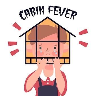 Fièvre de cabine avec maison