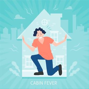 Fièvre dans la cabine avec une personne prise au piège dans la maison