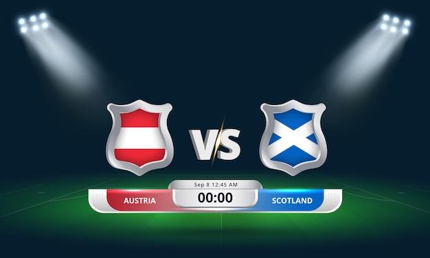 Fifa world cup qualifier 2022 autriche vs ecosse football match