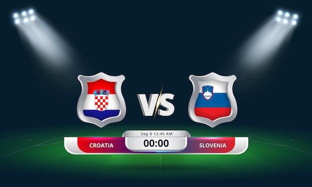 Fifa world cup qualifier 2022 croatie vs slovénie football match