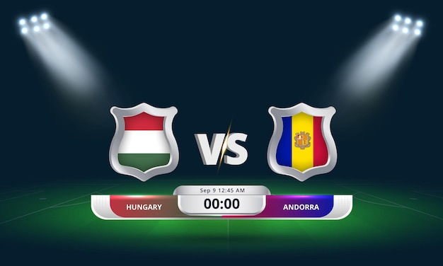 Fifa world cup qualifier 2022 hongrie vs andorre football match