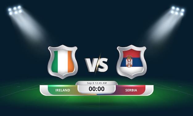 Fifa world cup qualifier 2022 irlande vs serbie match de football