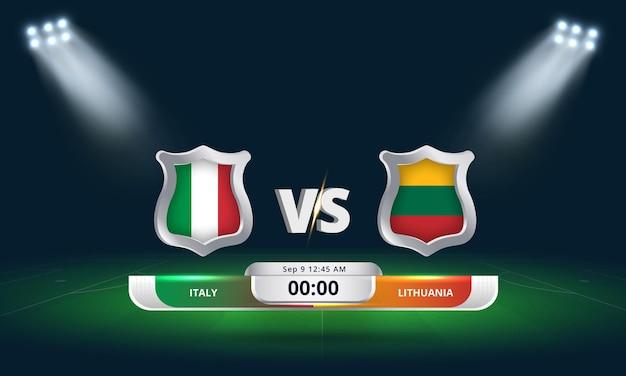 Fifa world cup qualifier 2022 italie vs lituanie football match