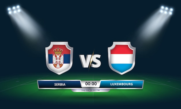 Fifa world cup qualifier 2022 serbie vs luxembourg football match