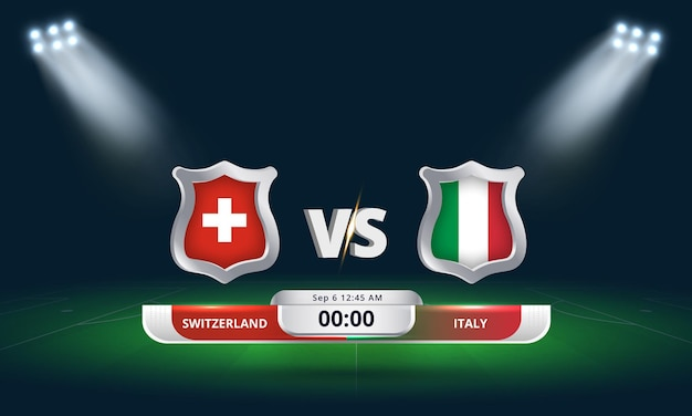 Fifa world cup qualifier 2022 suisse vs italie football match