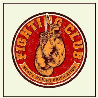 Fighting club retro tin signes