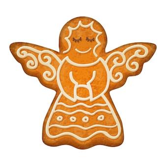 Figurine d'ange décorée. biscuit au pain d'épice.