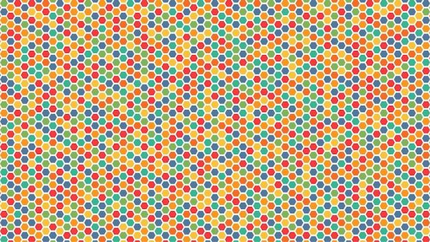 Filet hexagonal multicolore abstrait sans couture. nid d'abeille de modèle de fond de texture. illustration vectorielle de style plat.