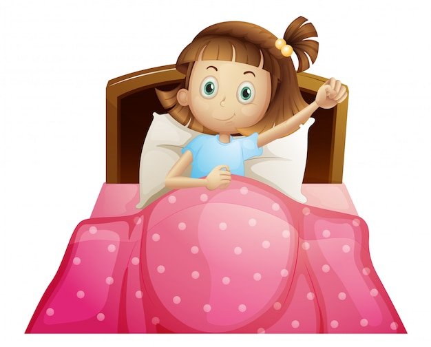 Fille au lit