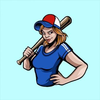 Fille de baseball