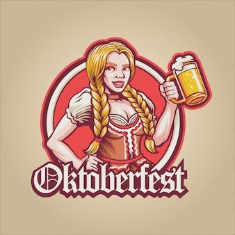 Fille à la bière oktoberfest