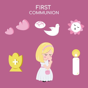 Fille communion
