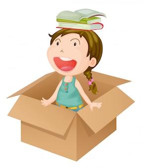 Une fille dans une boîte