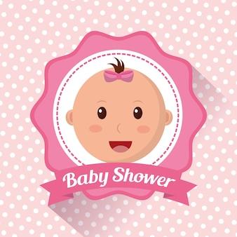 Fille de douche de bébé