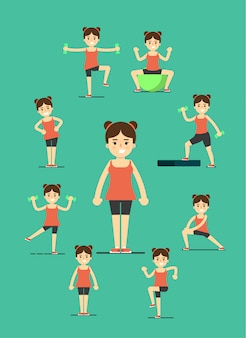 Fille fitness faire des exercices