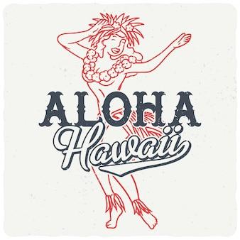 Fille hawaïenne dansante