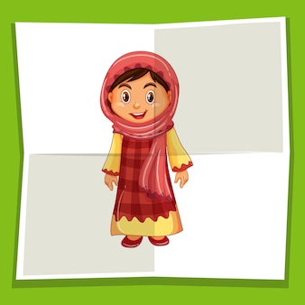 Fille heureuse en costume indonésien