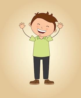 Fille heureuse