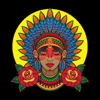 Fille indienne apache