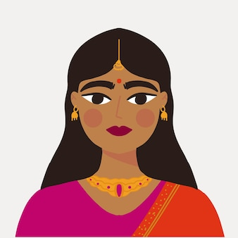 Fille indienne en vêtements traditionnels