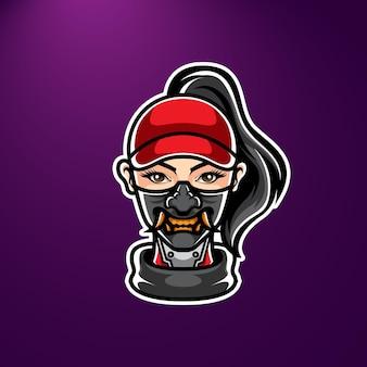 Fille avec logo masque oni