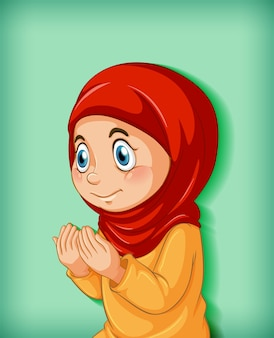 Fille musulmane pratique la religion