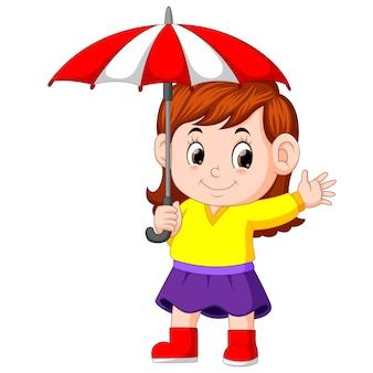 Fille avec un parapluie