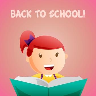 Fille de retour à l'école
