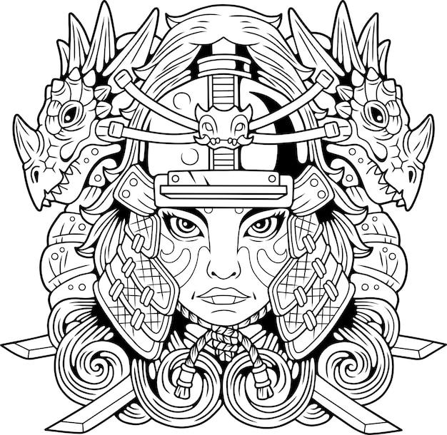 Fille samouraï