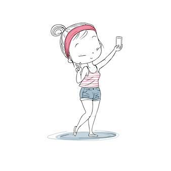 La fille selfie.