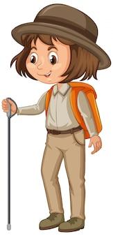 Fille en uniforme scout