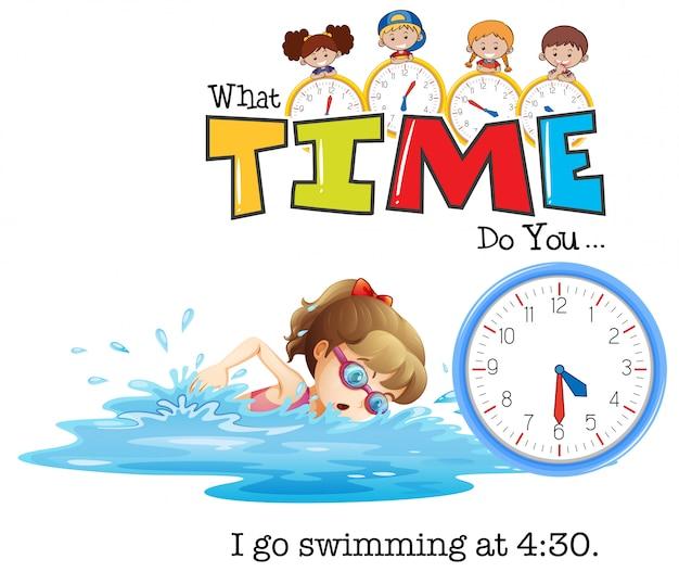 Une fille va nager à 4h30