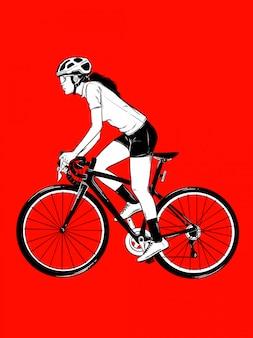 Fille de vélo