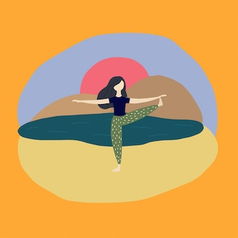 Fille de yoga
