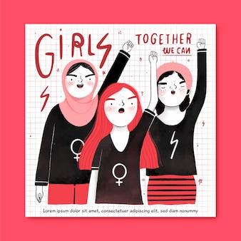 Les filles, ensemble, nous pouvons la journée des femmes
