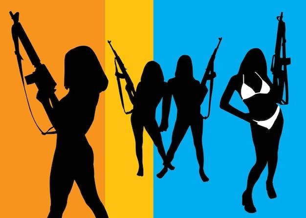Les filles avec des fusils