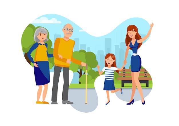 Filles, illustration vectorielle plane couple de personnes âgées