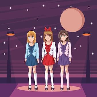 Filles manga anime