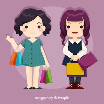 Des filles profitant de leur temps libre