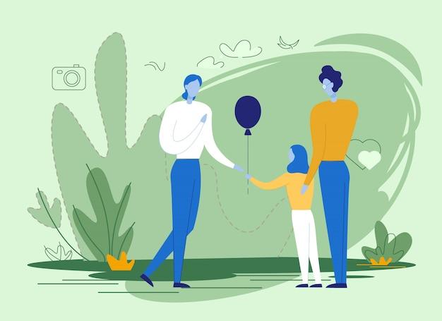 Filles saluant parent avec vacances ou anniversaire