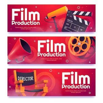 Film d'animation produisant des bannières horizontales