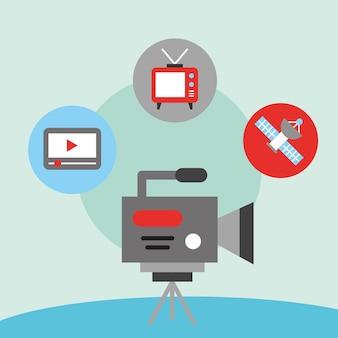 Film de caméscope de communication de nouvelles